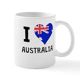 Australian flag Coffee Mugs