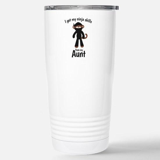 Monkey Ninja - Get Skills from my Aunt Travel Mug