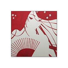"Geisha Tilia Square Sticker 3"" x 3"""