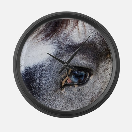 Blue Eyed Horse Large Wall Clock