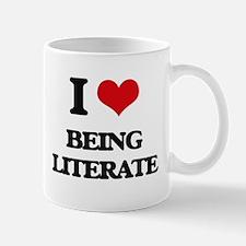 I Love Being Literate Mugs