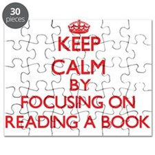 Keep Calm by focusing on Reading A Book Puzzle