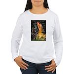 Fairies & Newfoundland Women's Long Sleeve T-Shirt
