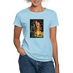 Fairies & Newfoundland Women's Light T-Shirt