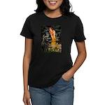 Fairies & Newfoundland Women's Dark T-Shirt