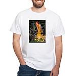 Fairies & Newfoundland White T-Shirt