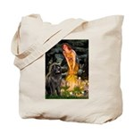 Fairies & Newfoundland Tote Bag