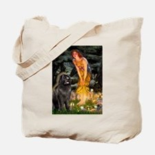 Fairies & Newfoundland Tote Bag