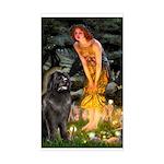 Fairies & Newfoundland Sticker (Rectangle)