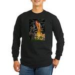 Fairies & Newfoundland Long Sleeve Dark T-Shirt