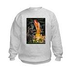 Fairies & Newfoundland Kids Sweatshirt