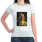 Fairies & Newfoundland Jr. Ringer T-Shirt