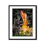 Fairies & Newfoundland Framed Panel Print