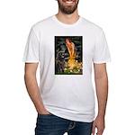 Fairies & Newfoundland Fitted T-Shirt