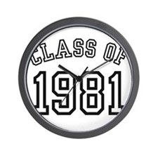 Class of 1981 Wall Clock