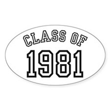 Class of 1981 Oval Decal