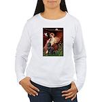 Angel & Newfoundland Women's Long Sleeve T-Shirt