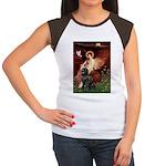 Angel & Newfoundland Women's Cap Sleeve T-Shirt