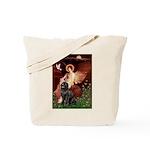 Angel & Newfoundland Tote Bag