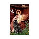 Angel & Newfoundland Sticker (Rectangle)
