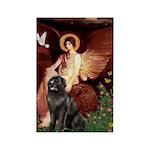 Angel & Newfoundland Rectangle Magnet (10 pack)