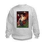 Angel & Newfoundland Kids Sweatshirt