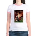 Angel & Newfoundland Jr. Ringer T-Shirt