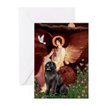 Angel & Newfoundland Greeting Cards (Pk of 10)