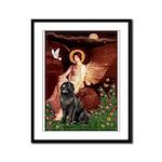 Angel & Newfoundland Framed Panel Print