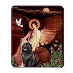Angel & Newfoundland Mousepad