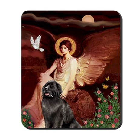 Angel & Newfoundland Mousepad
