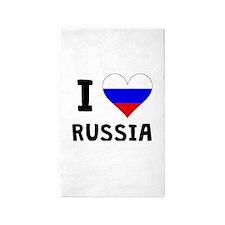 I Heart Russia Area Rug