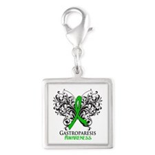 Gastroparesis Awareness Silver Square Charm