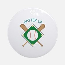 Baseball Batter Ornament (Round)