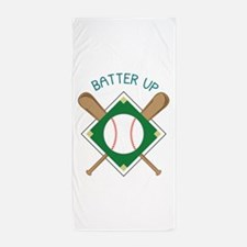Baseball Batter Beach Towel