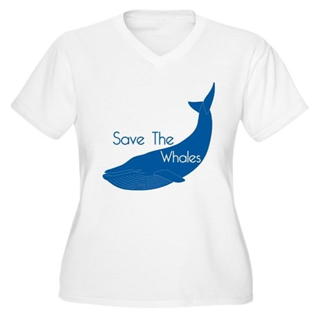 Save The Whales Blue Whale cause Women's Plus Size