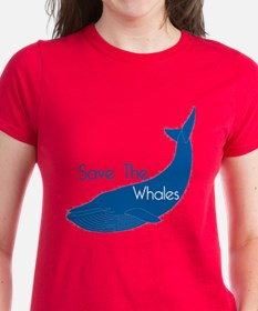 Save The Whales Blue Whale cause Tee