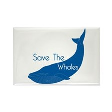 Save The Whales Blue Whale cause Rectangle Magnet