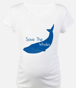 Save The Whales Blue Whale cause Shirt