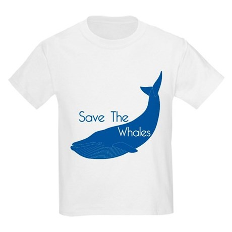 Save The Whales Blue Whale cause Kids Light T-Shir