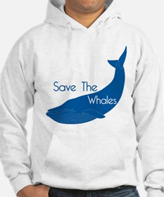 Save The Whales Blue Whale cause Hoodie