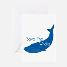 Save The Whales Blue Whale cause Greeting Cards (P