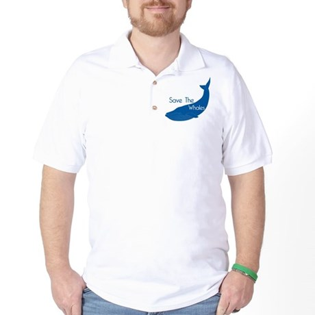 Save The Whales Blue Whale cause Golf Shirt