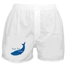 Save The Whales Blue Whale cause Boxer Shorts