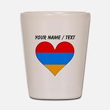 Custom Armenia Flag Heart Shot Glass