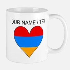 Custom Armenia Flag Heart Mugs