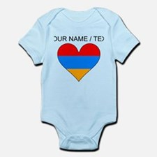 Custom Armenia Flag Heart Body Suit