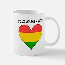 Custom Bolivia Flag Heart Mugs