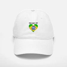 Custom Brazil Flag Heart Baseball Baseball Baseball Cap