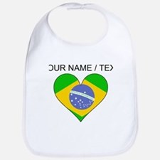 Custom Brazil Flag Heart Bib